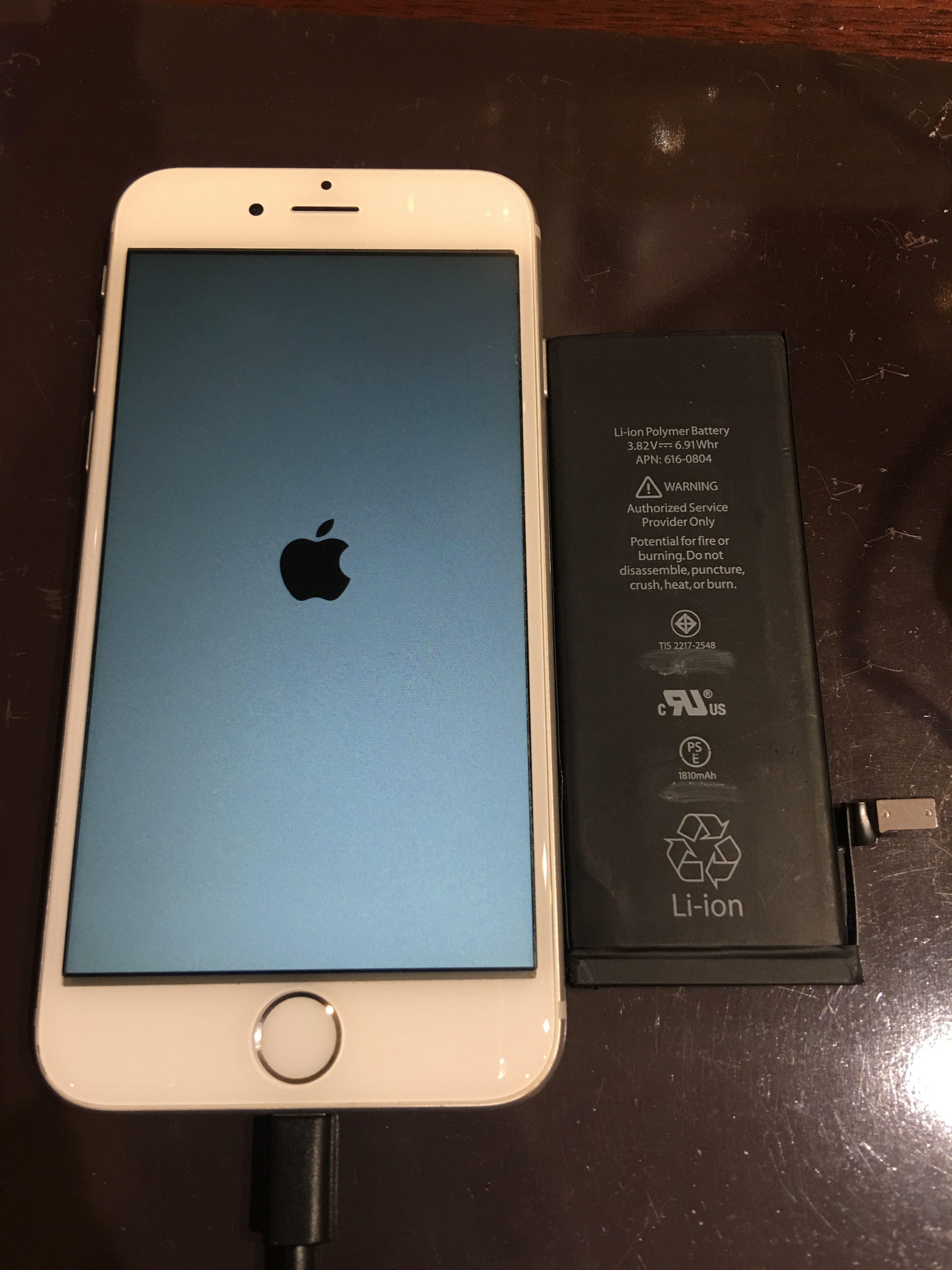 iPhone6バッテリー交換修理!《吹田市からお越しのお客様》データーそのまま即日最短20分ほどで完了します。学割・SNS割引実施中!確かな実績と経験でお客様の大切なiPhone修理おこないます!