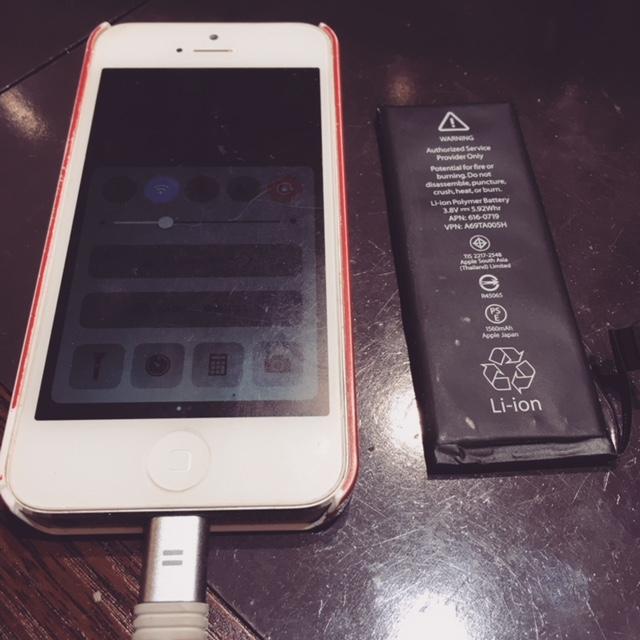 iphone修理専門店のスマートクール★アイフォンの不具合に即日データそのままで対応いたします!長年使用したアイホンもバッテリー交換で蘇る☆彡アイフォン5バッテリー交換【伊丹市よりお越しのお客様】