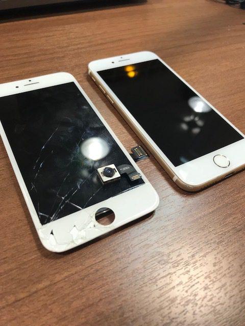 【伊丹店修理速報 IPHIONE7 画面修理+カメラ交換】 携帯を落とした時にカメラのレンズも割れちゃった💦💦写真が綺麗に映らなくて困ってる。。こんなところ直せないですよね??いいえ!!伊丹店では直せますよ(* ´艸`)