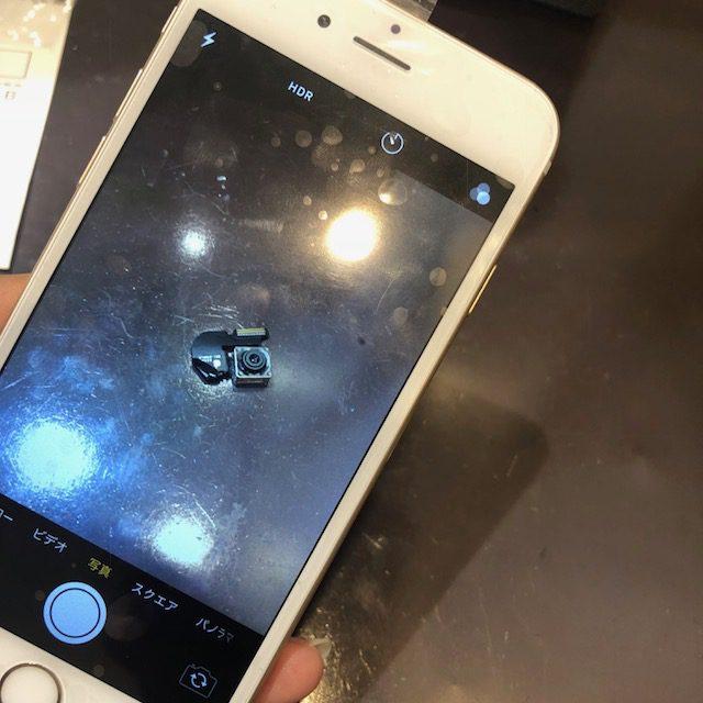 iphone6外カメラ交換 突然カメラが映らない!?パーツ交換で復活します!スマートクールつかしん店ならアクセス便利で暑い日も雨の日も快適にお待ちいただけます!<伊丹市よりお越しのお客様>