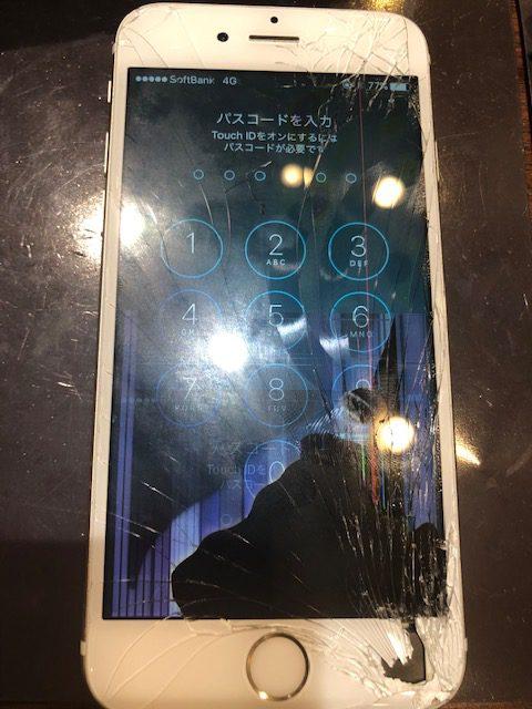 iphone6S画面交換|黒いシミがあるアイフォン、危険信号です!!!<尼崎市よりお越しのお客様>