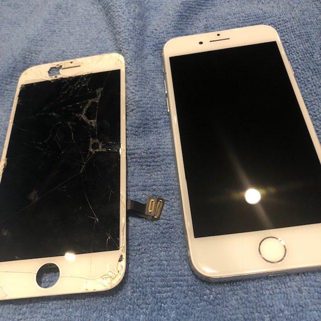 iphone7画面交換&ガラスコーティング|もう割りたくない・・・・(´;ω;`)気づかぬうちに携帯が割れてしまったら、どうすれば?<尼崎市よりお越しのお客様>