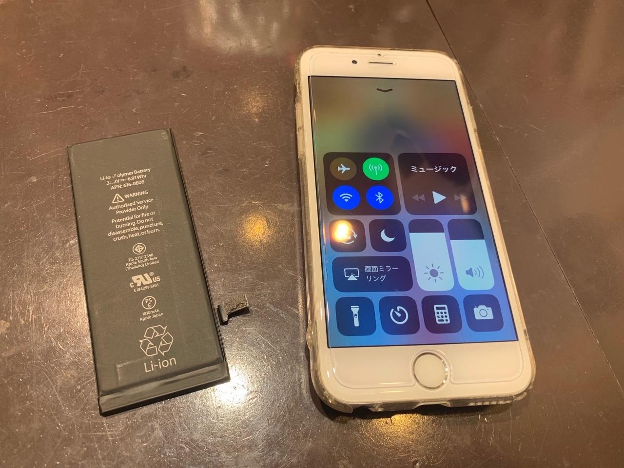 【IPHONE6】3年ちょっと使用し続けて劣化した電池を交換!年末年始も休まず営業致します!尼崎のショッピングセンター内のアイフォン・アイパッド・スマホ修理店スマートクール♪無料送迎バス有[伊丹市よりお越しのお客様]
