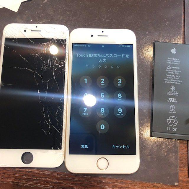 iphone6S水没復旧|お風呂でポチャ・・・・・水没復旧も即日お渡し可能!!水没の復旧率のカギになるのはずばり・・・・<尼崎市よりお越しのお客様>