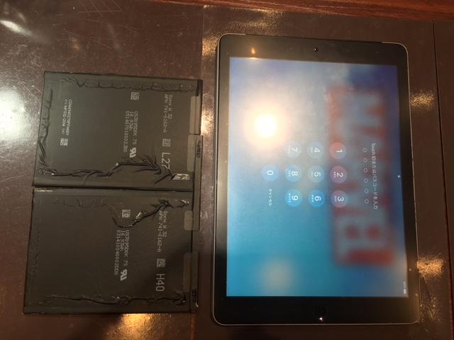 iPadairバッテリー交換 データそのまま!iPhone修理伊丹尼崎川西宝塚店 尼崎市武庫之荘よりお越しのお客様