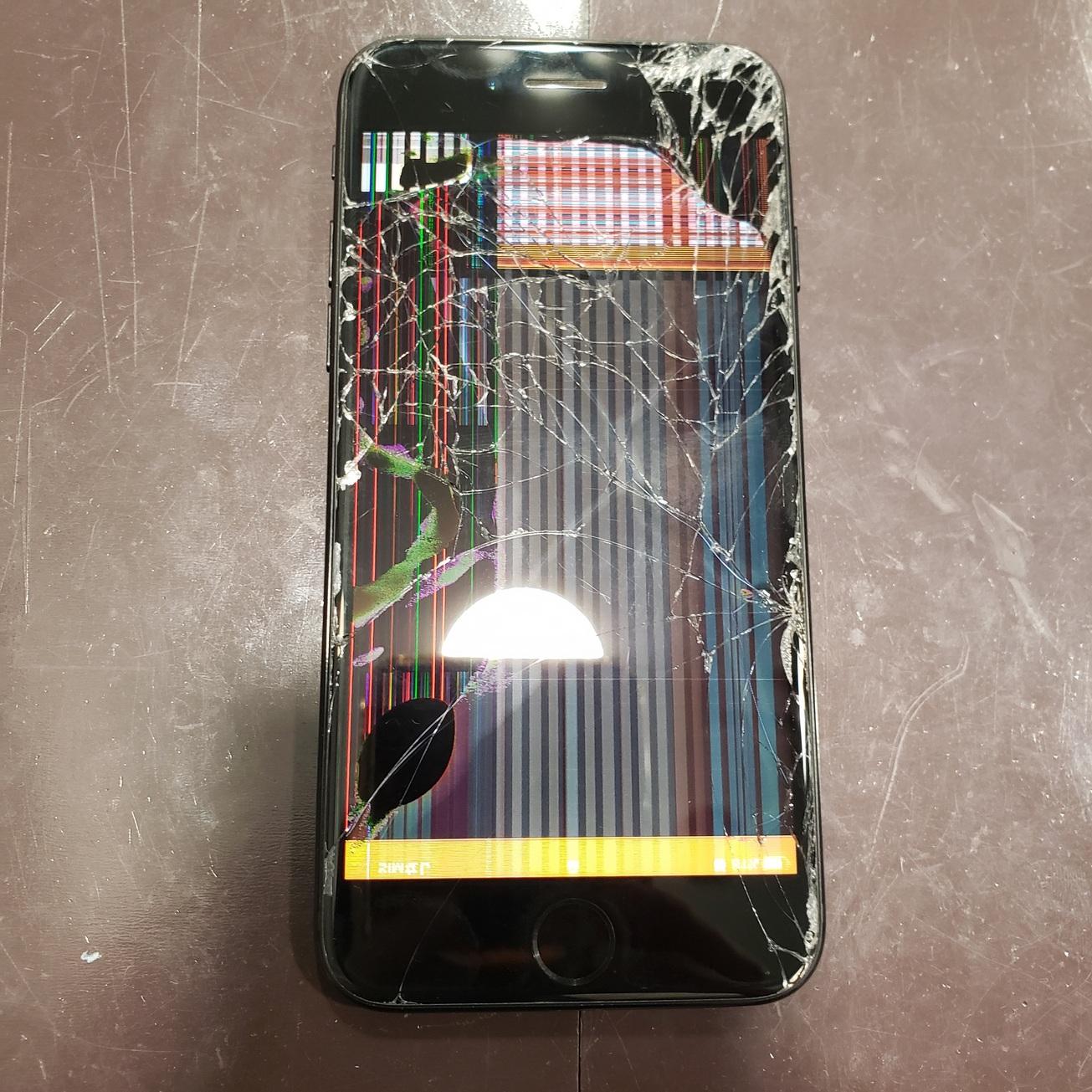 22時まで営業中!ご予約無しでも修理可能です!iPhone7画面修理【豊中市からお越しのお客様】℡072-767-1011