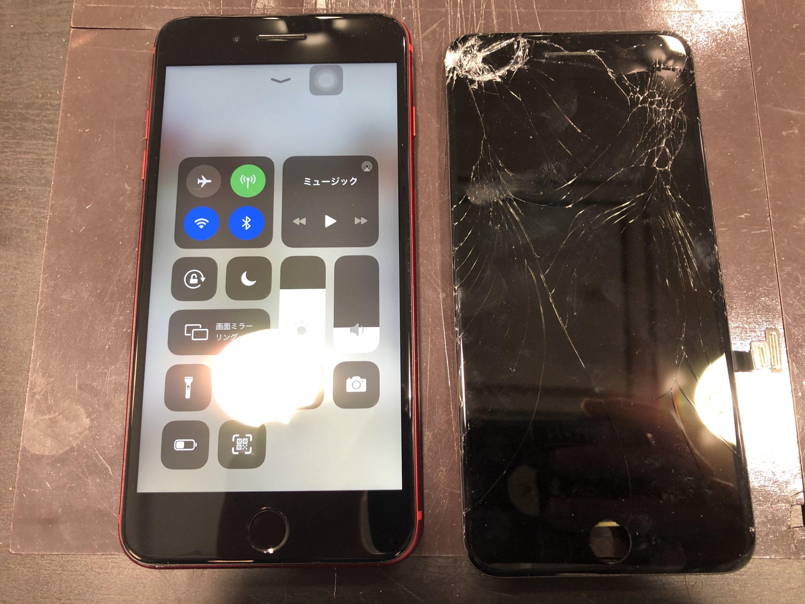 iPhone8p 画面交換 伊丹市からお越しのお客様 か