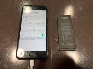 最短15分で昨日お修理!iPhone8バッテリー交換<伊丹市よりお越しのお客様>