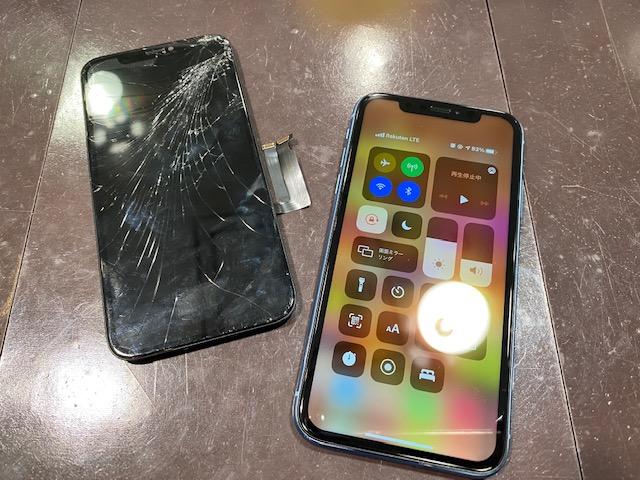 iPhoneXR 液晶画面交換 尼崎市よりお越しのお客様 s