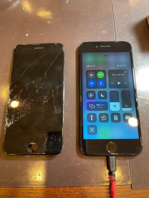 iPhone7 画面交換 伊丹市からお越しのお客様 m
