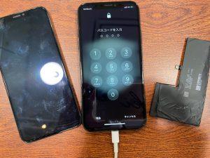 iPhoneXS 画面バッテリー交換
