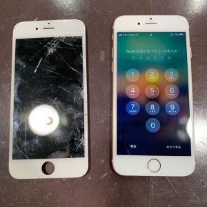 画面を交換修理したiPhone6s