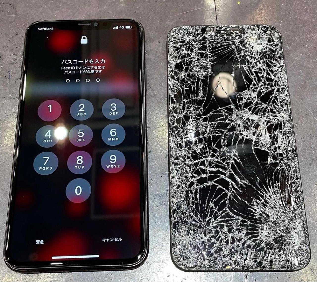 iPhoneXR画面交換 【伊丹市よりご来店】 y
