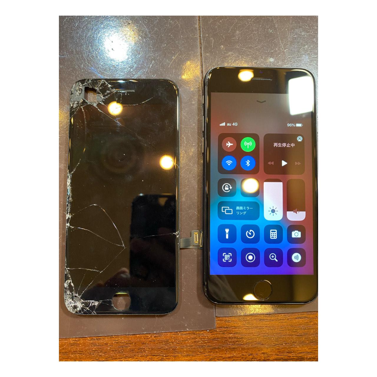 【iPhoneSE2画面交換】尼崎市-画面割れをほっておかないで!!即日修理!ヒ