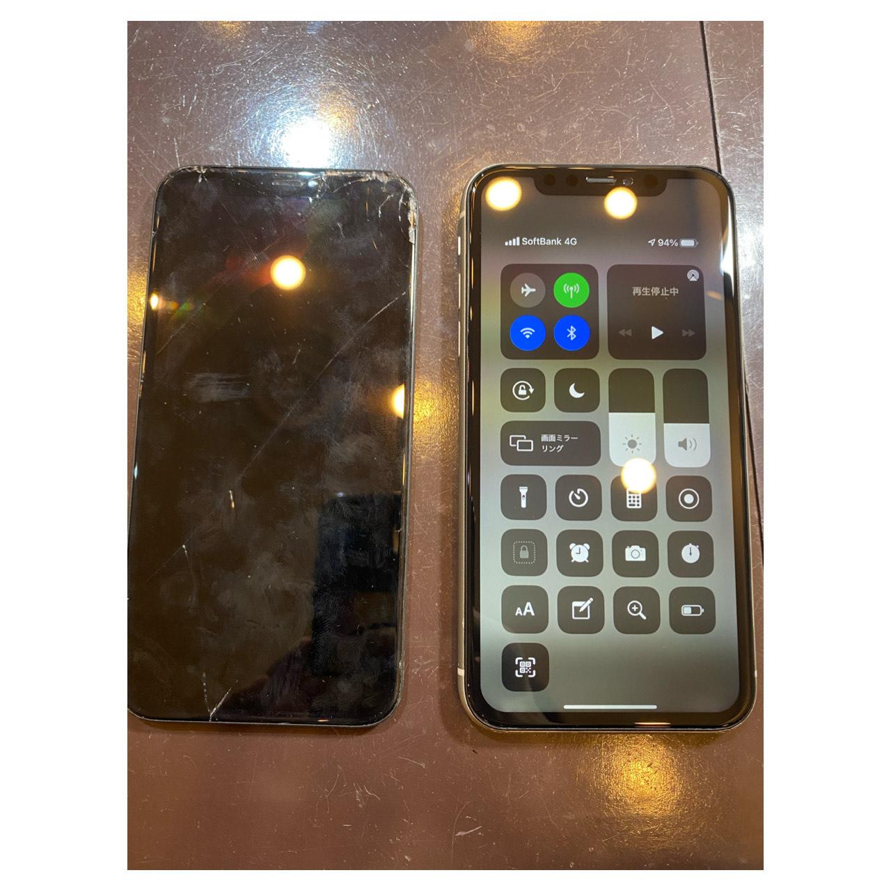 iphone11 画面交換 尼崎市よりお越しのお客様 イ