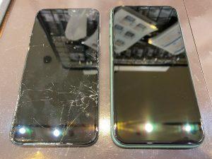 iPhone11 画面交換修理 データそのまま即日最短30分修理 <尼崎市からお越しのお客様>ク