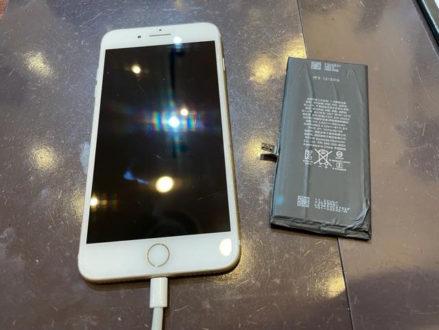 iPhone7plus バッテリー交換 尼崎市よりご来店のお客様 コ
